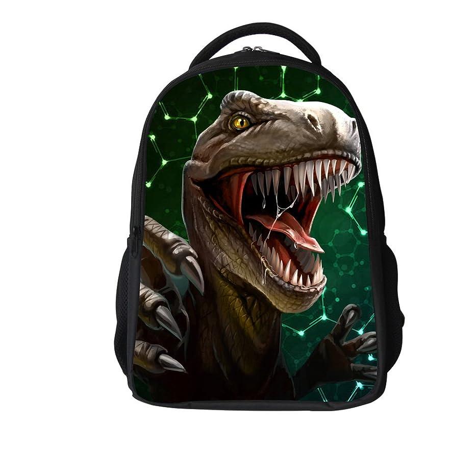 夜キャンペーンスリッパLawlait 绿の恐竜おしゃれ かっこいいデザイン バックバッグ 男女兼用 3D なドクロ柄 (绿の恐竜)