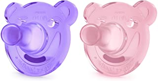 Philips Avent Soothie Shapes Pacifier, Pink/Purple, 3+...