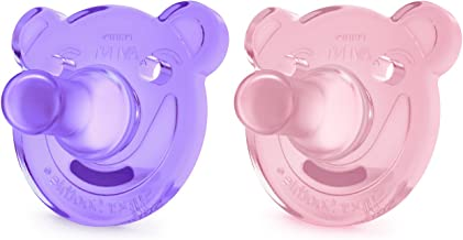 Philips Avent Soothie Shapes Pacifier, Pink/Purple, 3+ months, 2 pack