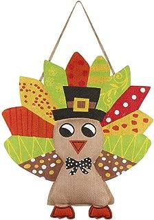 burlap turkey door hanger