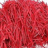 Homo Trends Papel Kraft triturado de 200 gramos de papel kraft triturado, cesta de rafia, papel de seda triturado para cestas y relleno de caja de regalo (rojo)
