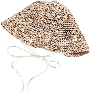 Sunhat Straw Hat Beach Hat Summer Shade Sunscreen Caps for Women Fashion(Pink)
