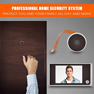 3.5 Inch LCD HD Screen Peephole Viewer, Digital Door Eye Viewer Camera 480×320P Image Resolution 120 Degree Wide Angle Home S