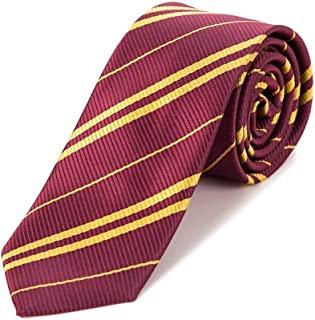 Premium Harry Potter Striped Tie, for School Christmas Cosplay Costumes Accessories, Suit Kids Teens、Women and Men(Blue)