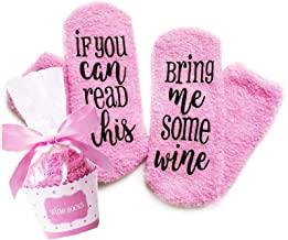 Wine Socks with cupcake Gift Packaging:Christmas,Valentine's Day, Birthday, Stocking Stuffers for Women,Gifts for Mom Her Wine Lover Wife Friends (pink)