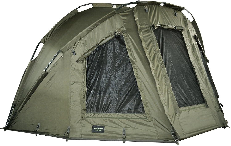 MK Angelsport  5 Seasons 2 Mann Dome + überwurf Zelt Karpfenzelt Brolly Broly