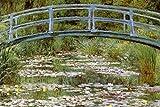Bilderdepot24 selbstklebende Fototapete Claude Monet - Alte Meister 'Die Japanische Brücke' 180 x 120 cm - direkt vom Hersteller, Vinyl