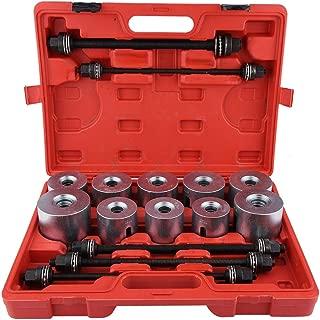 Car Bearing Bushing Tool, 27Pcs Auto Universal Front Wheel Drive Bearing Removal Insertion Tools Set Press Pull Sleeve Kit Adapters