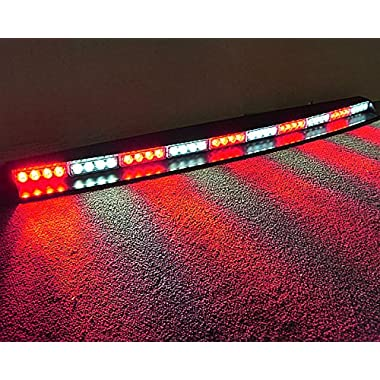 VSLED Red & White Alternately Car Truck Emergency Beacon Light Bar Hazard Strobe Warning 3 Watt 40 LED Strobe Light Bar