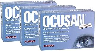 Gotas para los ojos Ocusan®   Lágrimas artificiales para ojos secos   Apto para lentes de contacto   Completamente sin conservantes   Ácido hialurónico