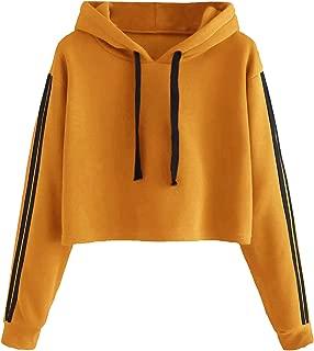 MAKEMECHIC Women's Planet Graphic Print Casual Thick Crop Hoodie Sweatshirt Top