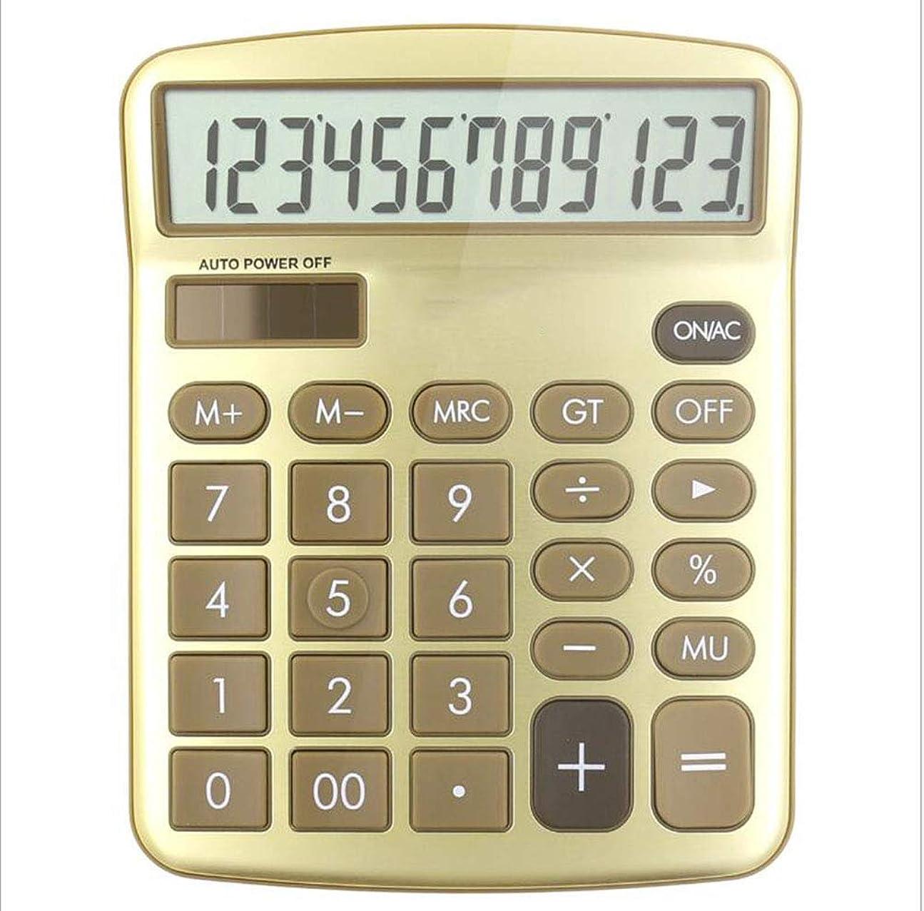 確執必要性満員電卓 デスクトップ コンピューター ソーラー デュアル電源 プラスチックボタン 12桁 大画面ディスプレイ 自動シャットダウン