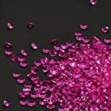 pink accent gems - PePeng Pack of 6000 Clear Decorative Wedding Table Scatter Crystals for 6-8 Tables, Make Wedding Days More Magic with The Acrylic Gem Confetti (Hot Pink)