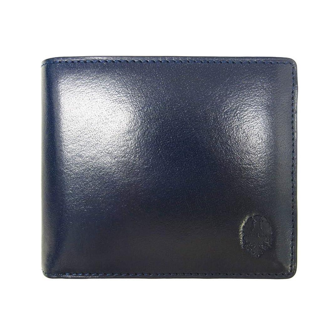 抑圧束ねるボタンBianchi ビアンキ 二つ折り 短財布 ショートウォレット 本革 タンポナート コン BIB1503-NV