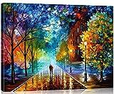 Suntown Holzrahmen Malen nach Zahlen 40 x 50cm DIY Leinwand Gemälde für Erwachsene und Kinder mit...