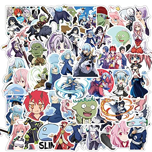 Anime That Time I Got Reincarnated As A Slime Stickers For Refrigerator Suitcase Scooter Diary DIY Manual Sticker50Pcs