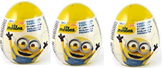 OPTOVICHOK Set of 3 Super Surprise Eggs Minions with Puzzle and 3D Card from Cartoon&Minions Deluxe Action Figure - Build-A-Minion Arctic Kevin/Banana&Despicable Me 3 Micro Minion Playsets 3-Pack Set