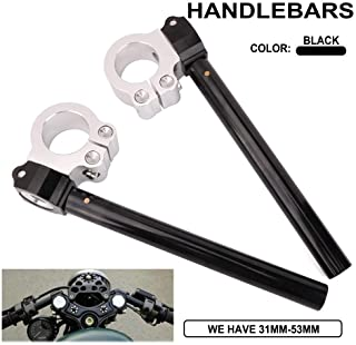"AnXin 41mm 7/8"" Motorcycle Clip-on Handlebar Handle Bars CNC Fork Tube Replaceable Fit For AN GSF GSX SC GSX-R VL VX VZ GS VX Cafe Racer Clip On Regular Moto"