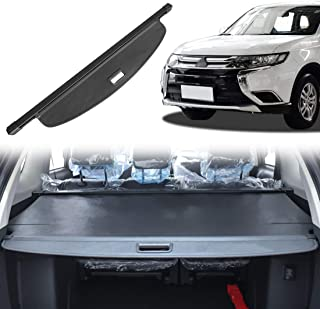 OREALTOOL Laderaumabdeckung Kofferraum Schutz Abdeckung Cargo Cover für Mitsubishi Outlander 2013 2018 Schwarz Ausziehbar Kofferraumabdeckung Rollo