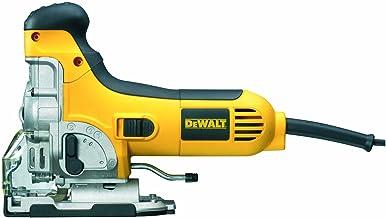 Dewalt DW333K-QS DW333K-QS-Sierra de Calar 701W Electrónica con puño Abierto + maletín, 701 W, 18 V, Negro Y Amarillo
