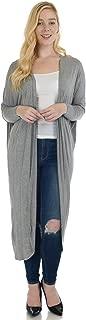 Simply Ravishing Women's Long Sleeve Batwing Full Length Cardigan (Size: S- 5X)