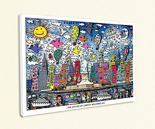 Kunstdruck The Statue of Liberty Welcomes All New York Poster Rizzi Platte 38