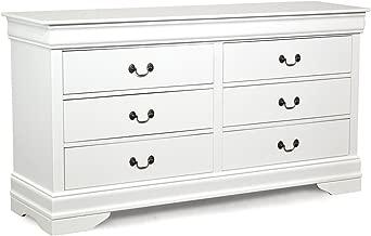 Crown Mark Crown Mark Furniture Louis Philip Dresser in White B3600-1