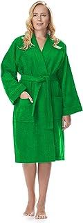 e6e4c0eb09e6a Archee - Peignoir de Bain en éponge Court en stil Kimono pour Femme 100%  Coton