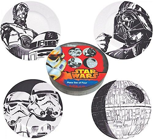 Lot de 4 Assiettes Star Wars