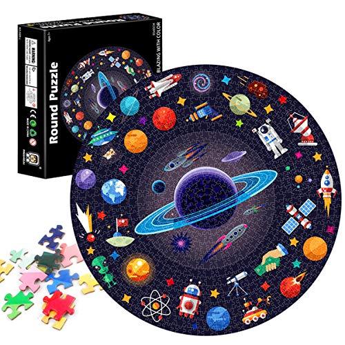 TaimeiMao Runde Puzzle 1000 Teile,Erwachsenenpuzzle,Puzzle Pädagogisches,Puzzle Kreative Erwachsene,Legespiel Puzzle,Puzzle Stressfreisetzung Spielzeug (Raum)