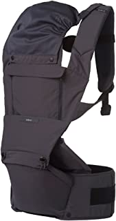 ÉCLEVE Pulse Ultimate Comfort Hip Seat Baby Carrier – Award-Winning 9 Position Front & Back Carry – US Safety Certified Up to 45 lbs (Charcoal Grey)