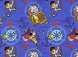 Fat Quarter Disney Jake und die Nimmerland Piraten Ahoy