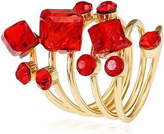 QIMOSHI Minimalistic Statement Ring Long Ring-Adjustable Ring Unique Elegant Gift Handmade Gift for Women Girls