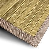 casa pura Bambusteppich Tibet (Natur) | für Bad und Wohnzimmer | natürlich wohnen Bambus | Bambusmatte in vielen Größen (200x300 cm)