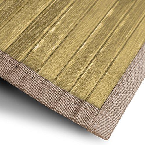casa pura Bambusteppich Tibet (Natur) | für Bad und Wohnzimmer | natürlich wohnen Bambus | Bambusmatte in vielen Größen (160x230 cm)