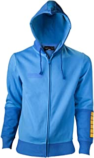 Megaman Player Official Mens Blue Zipped Hoodie Size L