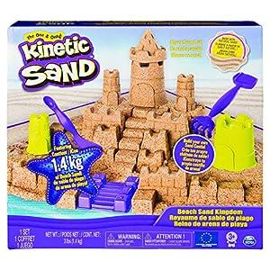 Kinetic Sand- Mega Beach Castle Set, Color Multicolor. (Spin Master 6044143)