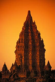 Posterazzi Indonesia Java Prambanan Shiva Mahadeva Temple Stone Architecture At Sunset Poster Print (24 x 34)