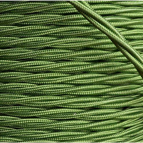 Tessuto di alta qualità realizzato in Gran Bretagna Art Deco Emporium rivestito intrecciato Flex 3Core 3 Amp vari colori Verde