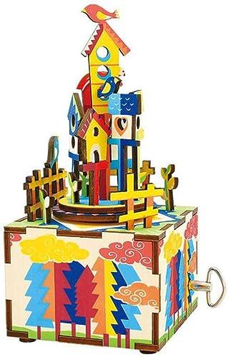 OJ DIY Music Box Artisanat décoration Boîte à Musique rougeative Sky City décoration à la Maison Cadeau créatif