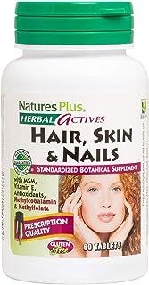 NaturesPlus Hair, Skin & Nails - 60 Vegan Tablets - Provides Strength and Elasticity to Hair Skin & Nails - Vegetarian, Gl...