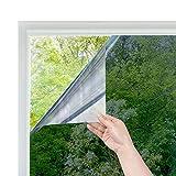 RH Art Sonnenschutzfolie Fenster UV-Schutz Verdunkelungsfolie Sichtschutz Spiegelfolie - Silber, 90 x 200 cm - 2