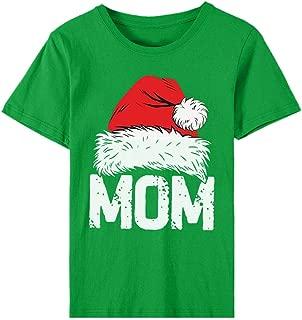 Auimank Christmas Women's Fashion O-Neck Short Sleeve Casual Cute Holiday Shirt
