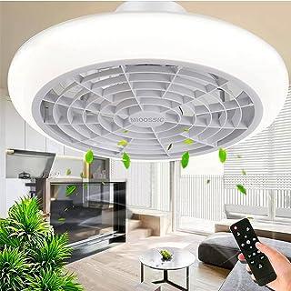Ventilateur de plafond avec éclairage LED, vitesse de vent réglable, intensité variable avec télécommande, plafonnier LED ...