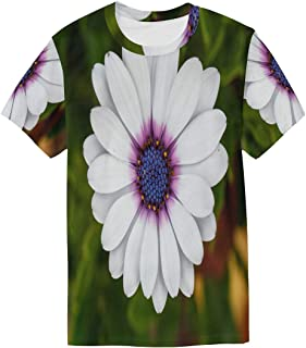 Butterfly Lavender White T Shirts for Men Top Tee Crew Neck Casual T-Shirt