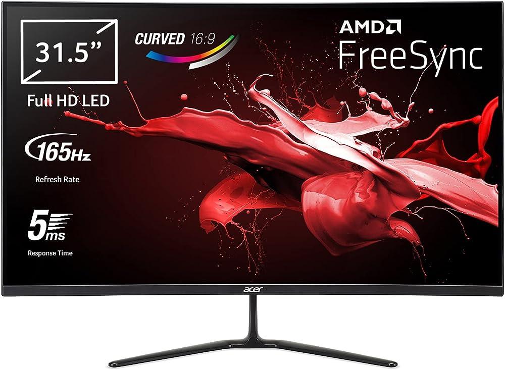 Acer monitor 31 5 pollici gaming curvo freesync display va fhd 165 hz 5 ms 16:9 hdmi 1.4 ED320QRPbiipx