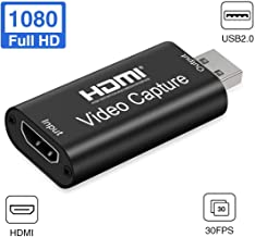AWADUO Audio Video Capture Cards, HDMI to USB 2.0 - High Definition 1080p 30fps - Record Directly to Computer for Gaming/S...