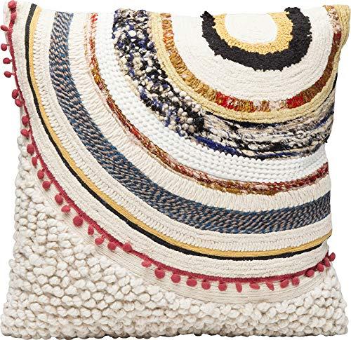 Kare Design Kissen Ethno Earth 50x50cm, Mehrfarbiges Dekokissen mit Appliikation und Muster, Quadratisches Kissen für das Sofa, (H/B/T) 53x53x3,75cm