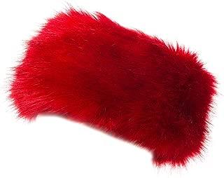 Cozy Warm Hair Band Earmuff Cap Faux Fox Fur Headband with Stretch for Women
