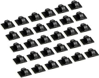 Usee ケーブル固定具 ケーブルクリップ コードクリップ 粘着シート付 30枚 車内収納 部屋清潔 線路片付け 整理 配線止め(黒)